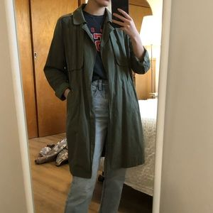 Army green trenchcoat
